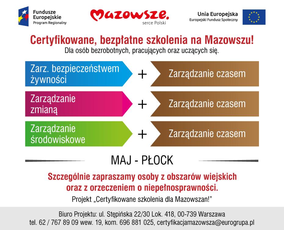 Certyfikowane Szkolenia dla Mazowszan