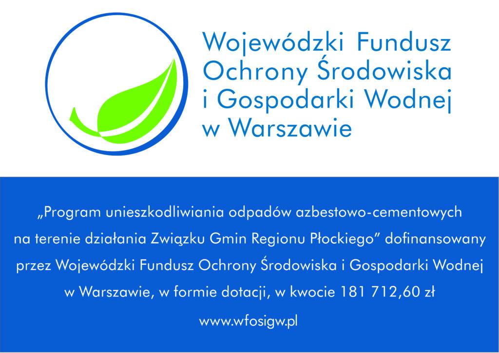 """""""Program unieszkodliwiania odpadów azbestowo-cementowych na terenie działania Związku Gmin Regionu Płockiego"""""""